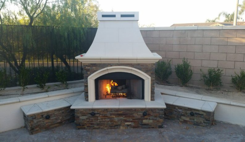 BBQ Island & Fireplace (Corona, CA) - Extreme Backyard Designs