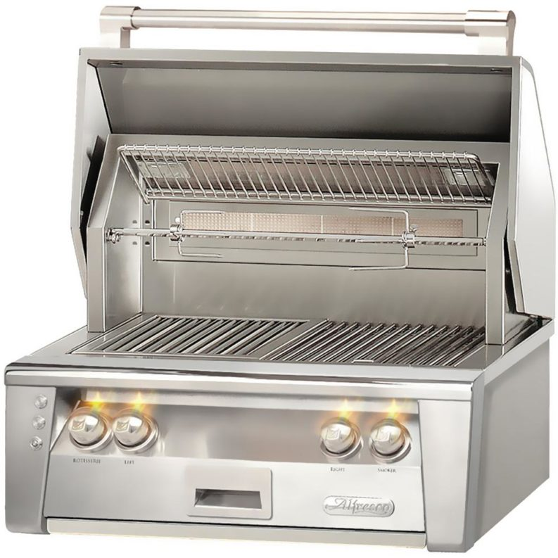 26 Built In Gas Grill Insert ~ Alfresco solid fuel insert extreme backyard designs