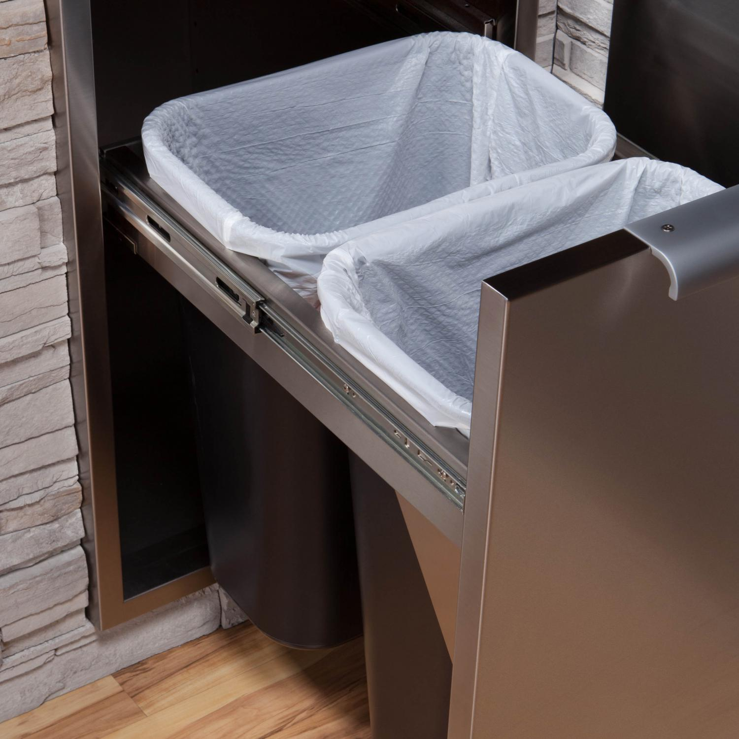 Dcs 20 Inch Roll Out Trash Recycle Bin With Soft Close