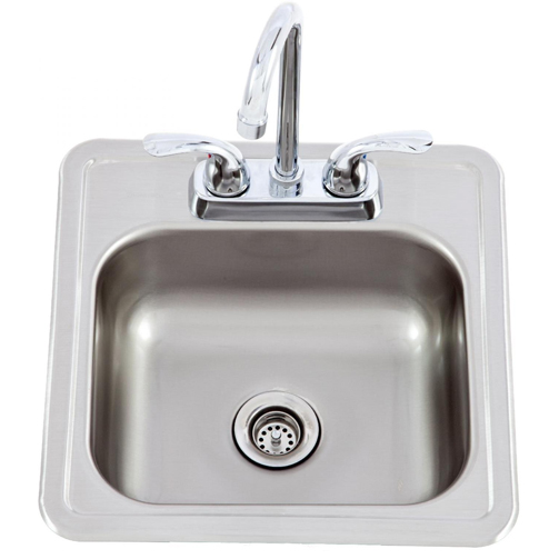 lion 15 x 15 sink with faucet u2013 stainless steel