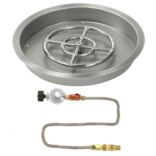 25 Quot Round Drop In Pan With Match Light Kit 18 Quot Fire Pit