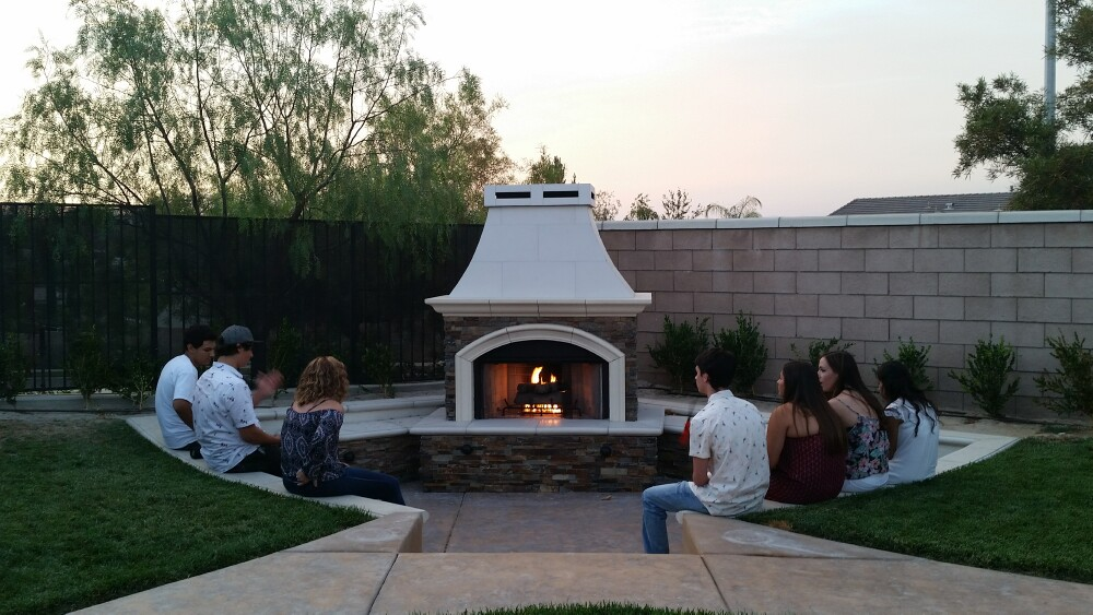 Custom fireplaces extreme backyard designs for Custom backyard designs