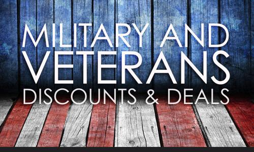 Military and Veteran Discounts