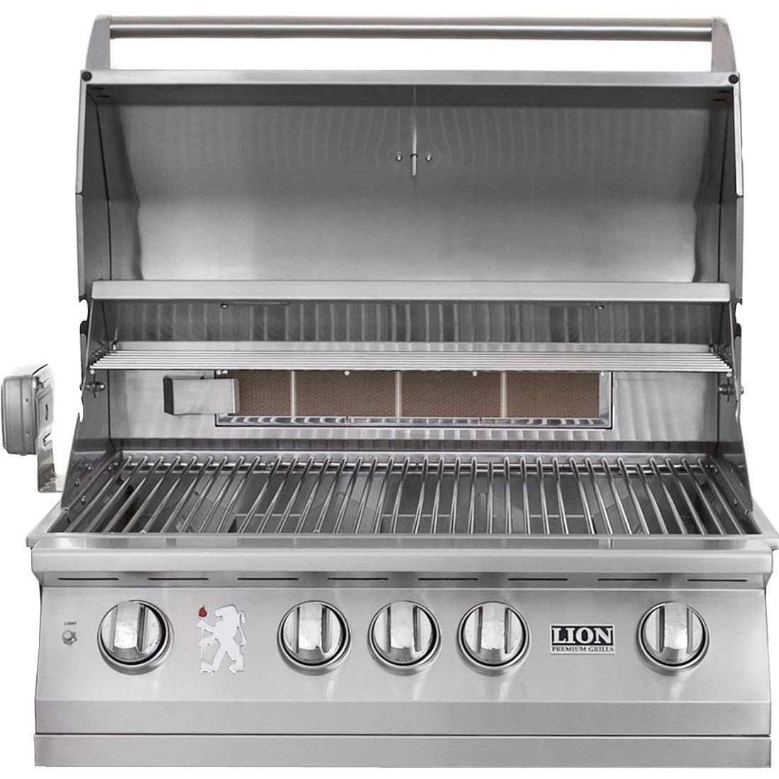 lion 32 inch built in gas grill l75000 stainless steel extreme