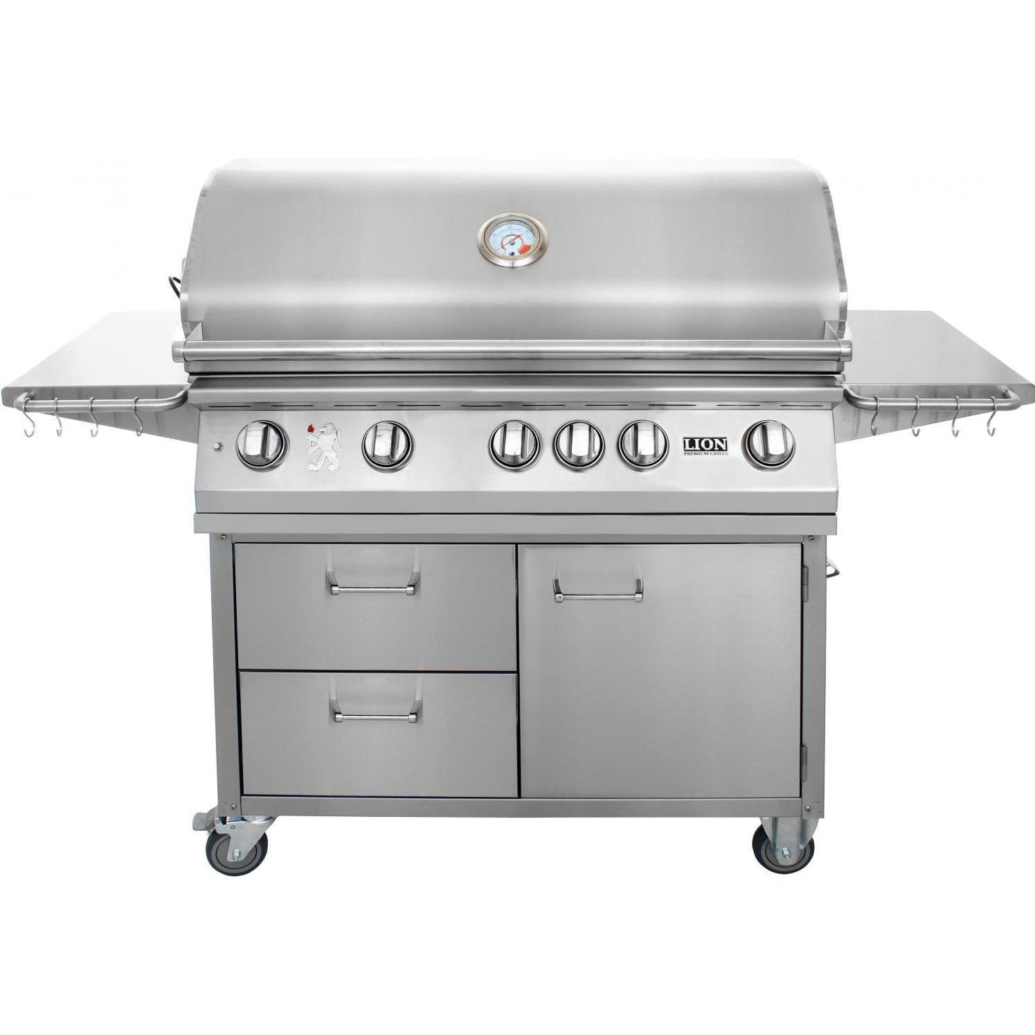 lion 40 inch gas grill l90000 stainless steel freestanding
