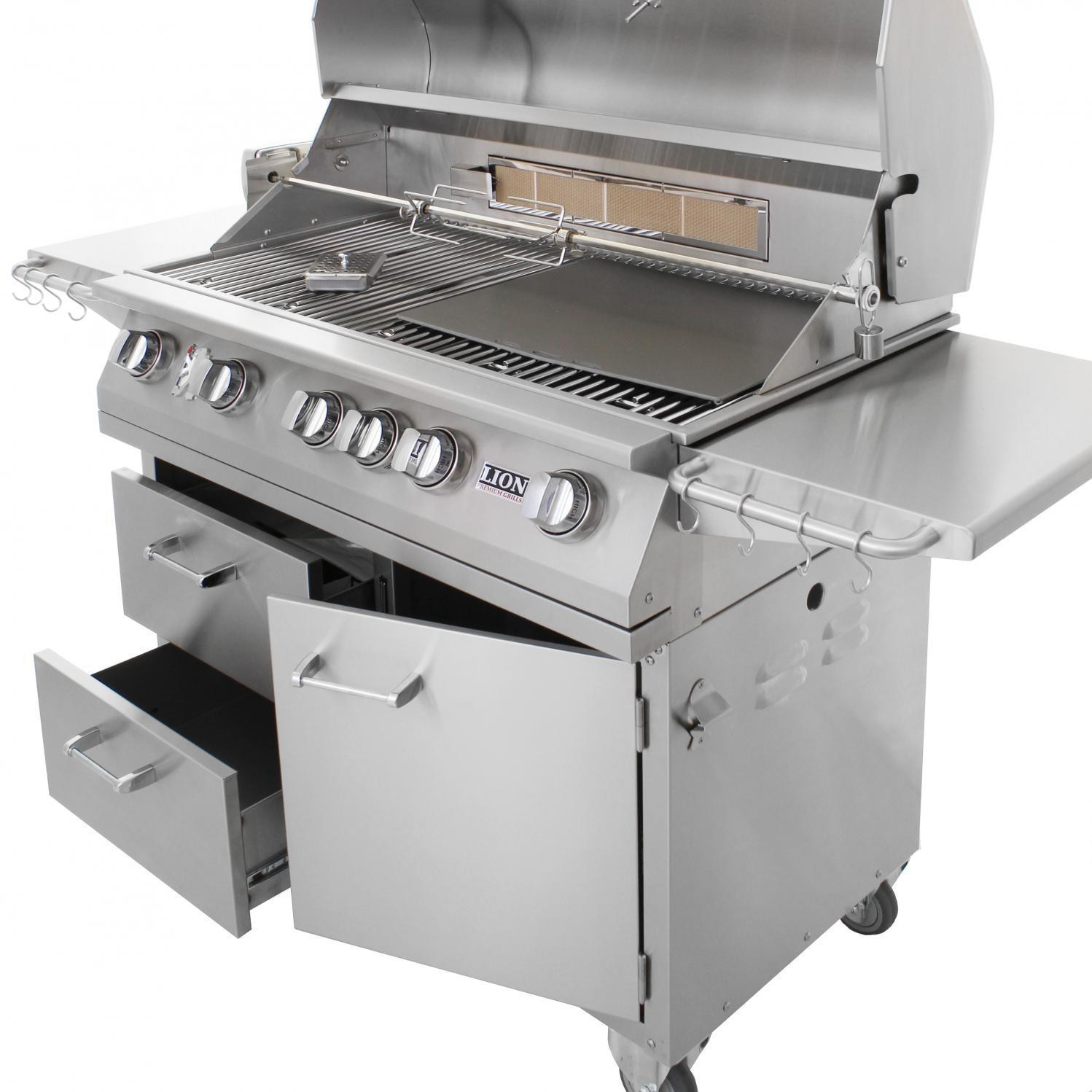 Lion 40 Inch Gas Grill L90000 Stainless Steel
