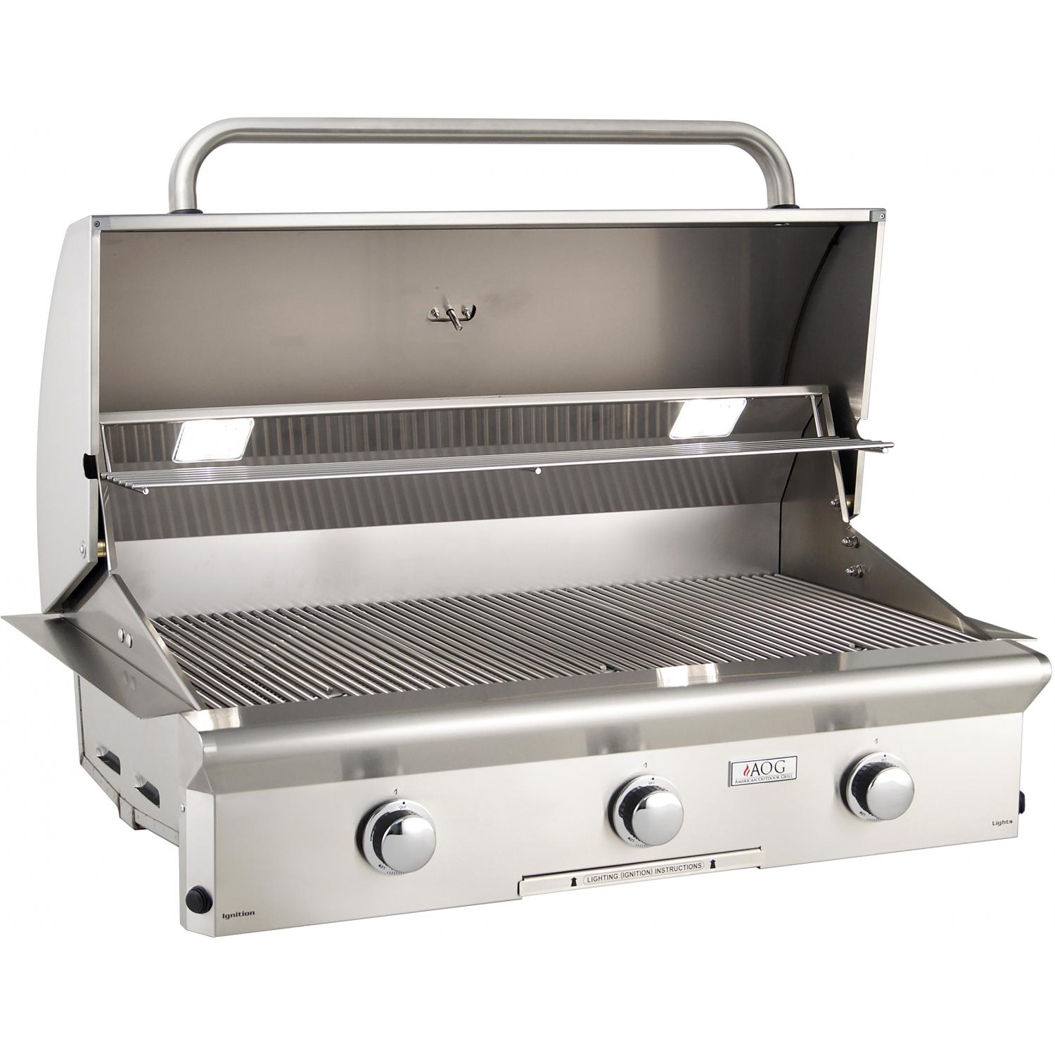 american outdoor grill t series 36 inch 3 burner built in. Black Bedroom Furniture Sets. Home Design Ideas