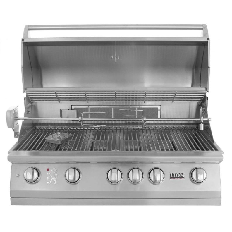 Napoleon Lex 730 Freestanding Gas Grill With Infrared Rear