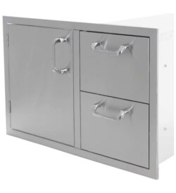 30 Inch Single Door 2 Drawer Combo Pcm