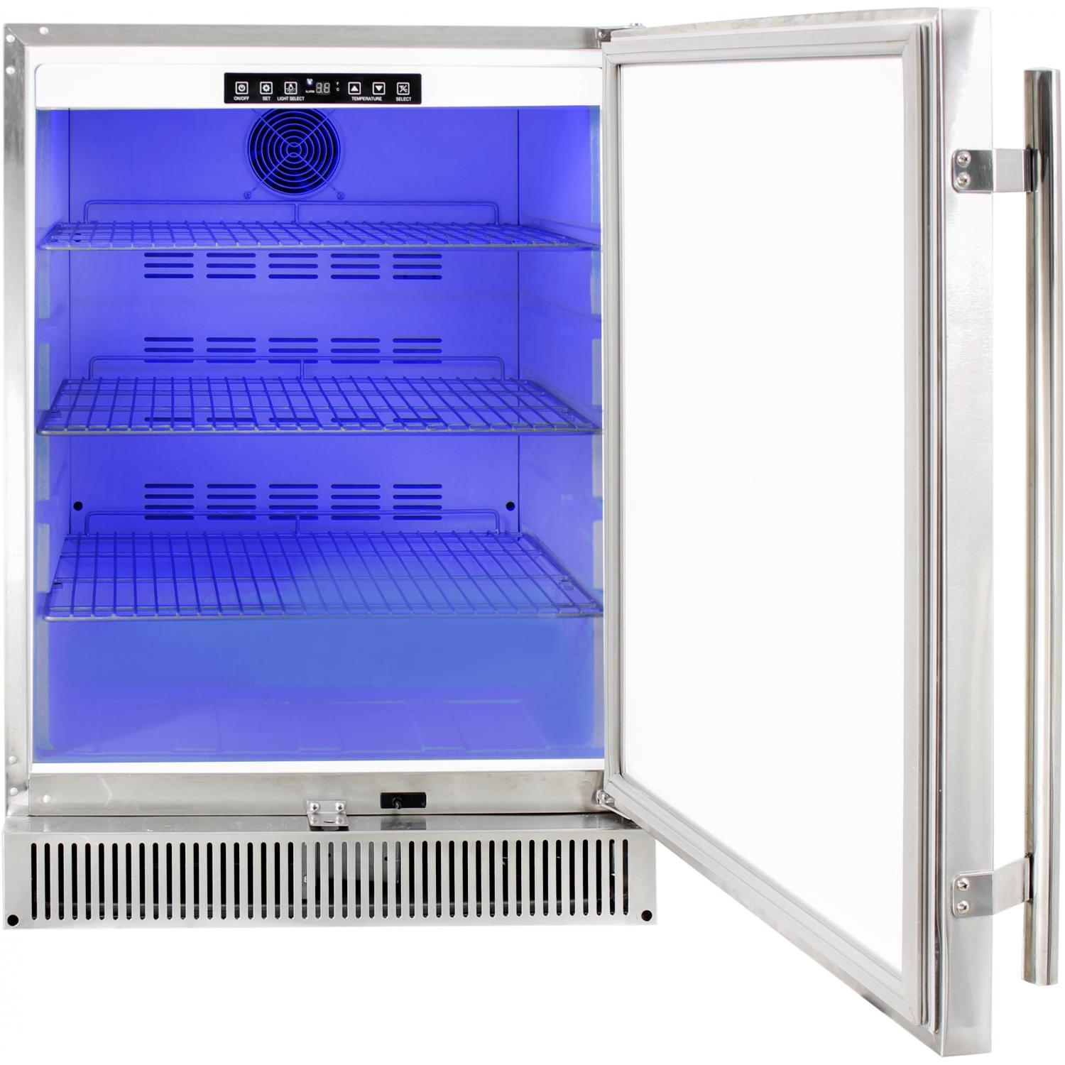 Blaze 24 Inch 5 2 Cu Ft Outdoor Stainless Steel Compact