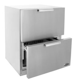DCS 24-Inch 5.6 Cu. Ft. Outdoor Refrigerator Drawers - Stainless Steel