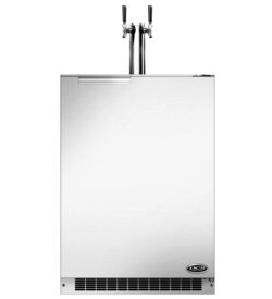 DCS 24-Inch 5.7 Cu. Ft. Right Hinge Dual Tap Beer Dispenser / Kegerator - Stainless Steel