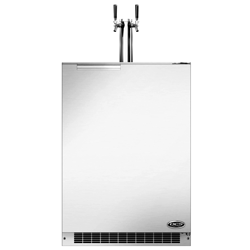 Dcs 24 Inch 5 7 Cu Ft Right Hinge Dual Tap Beer