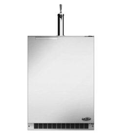 DCS 24-Inch 5.7 Cu. Ft. Right Hinge Single Tap Beer Dispenser / Kegerator - Stainless Steel
