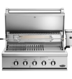 DCS Heritage 36-Inch Built-In Natural Gas Grill With Infrared Burner Kit & Griddle - BH1-36RGI-N