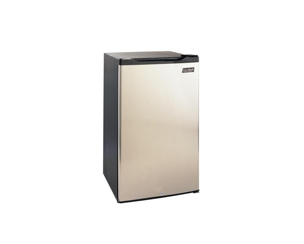 Fire magic 20 inch 4 2 cu ft compact refrigerator for Black cabinet with doors