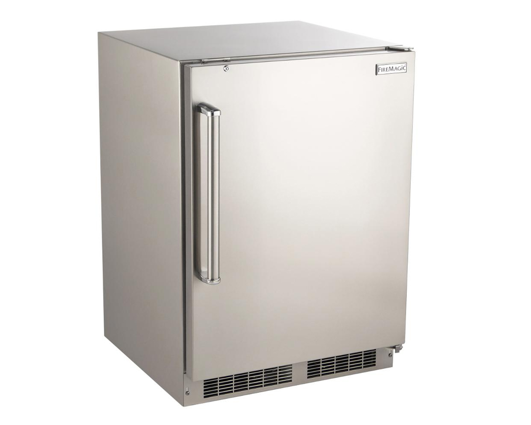Fire magic 24 inch 6 5 cu ft right hinged outdoor built for Outdoor kitchen refrigerators built in