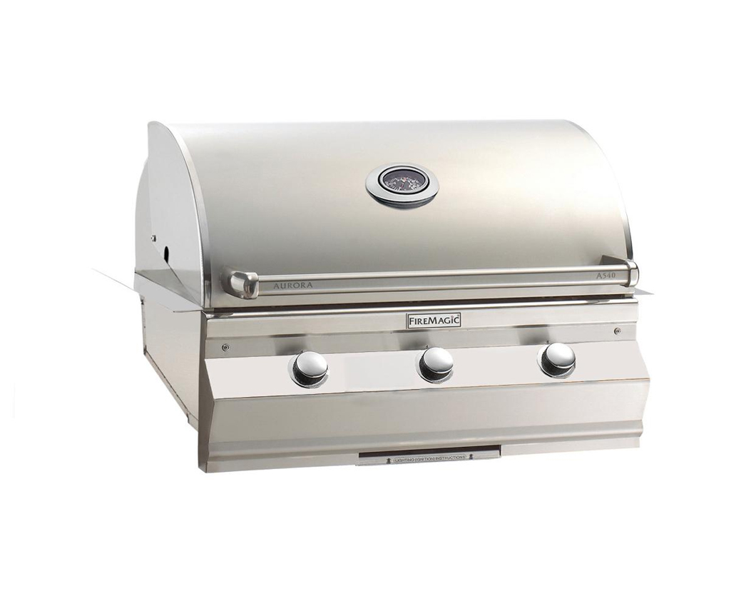 Fire Magic Aurora A540i 30 Inch Built In Natural Gas Grill With One Infrared