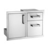 Fire Magic Premium Flush 30-Inch Access Door & Double Drawer Combo - 53810S