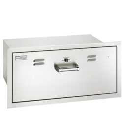 Fire Magic Premium Flush 30-Inch Built-In 110V Electric Stainless Steel Warming Drawer - 53830-SW