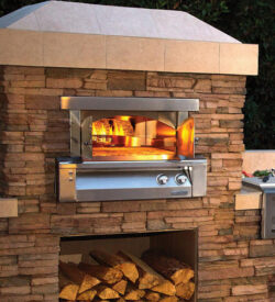 Alfresco 30-Inch Built-In Natural Gas Outdoor Pizza Oven - AXE-PZA-BI