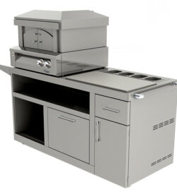 Alfresco 30-Inch Freestanding Natural Gas Outdoor Pizza Oven On Deluxe Cart - AXE-PZA-CART