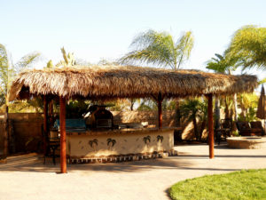 BBQ Island & Solid Roof Palapa