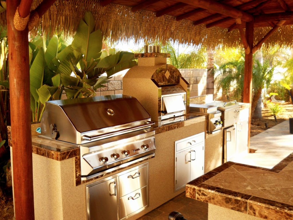 Two Piece Bbq Island W Solid Roof Palapa Extreme