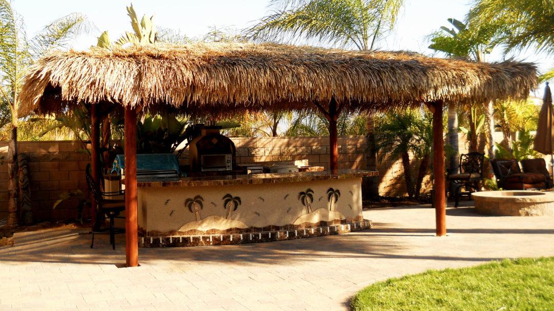 BBQ Island & Solid Roof Palapa