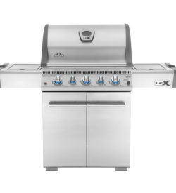 Napoleon LEX 485 Freestanding Natural Gas Grill With Infrared Rear Burner And Infrared Side Burner