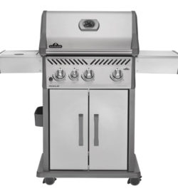 Napoleon Rogue 425 Freestanding Propane Gas Grill With Infrared Side Burner
