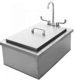 24x24 drop In Insulated Sink with Condiment Tray