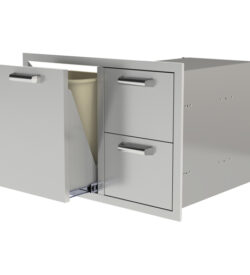 "PCM 30"" Two Drawer and Trash or Propane Rollout"