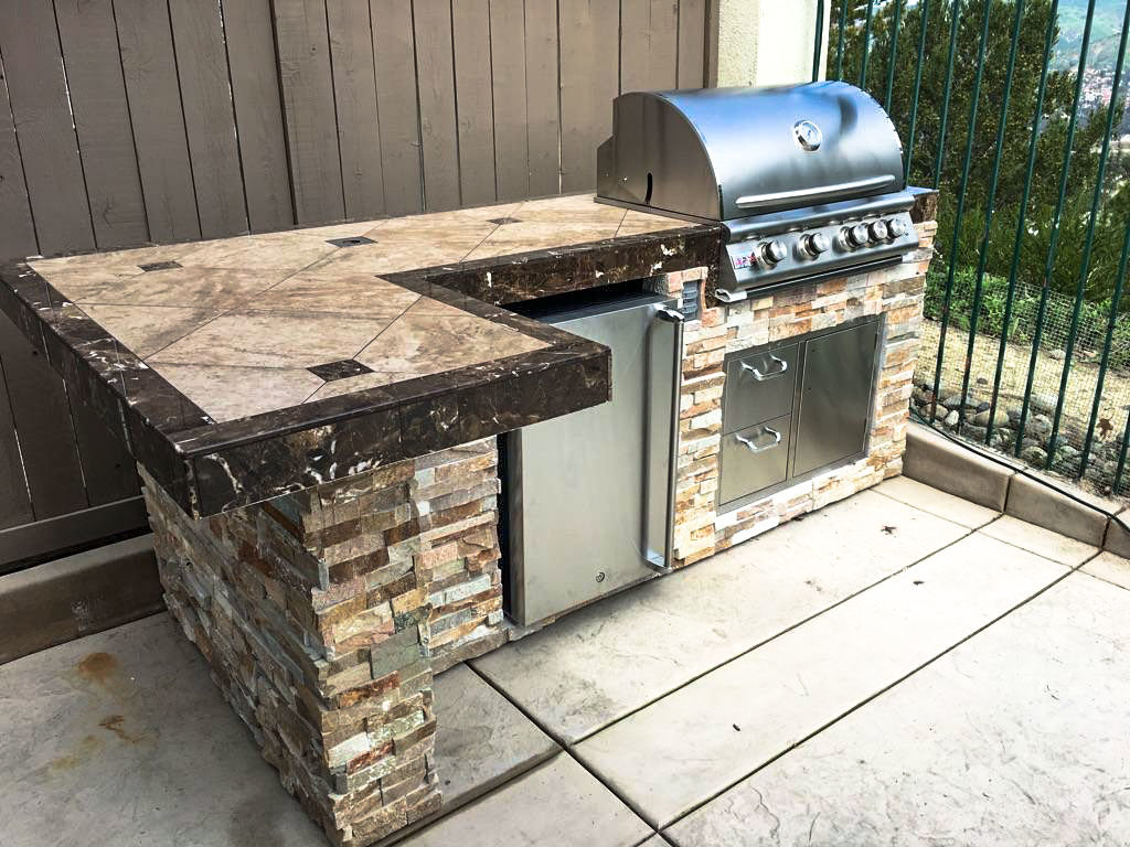 Corona bbq island extreme backyard designs for Outdoor grill island ideas